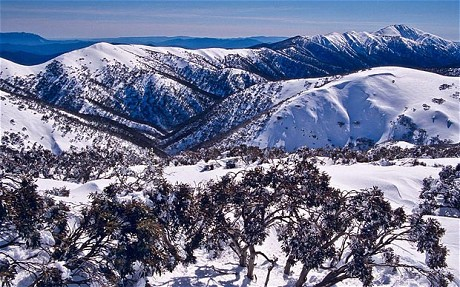 Australian alps and ski resorts